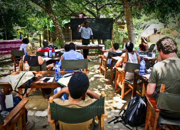 permaculture class at distant relatives kilifi