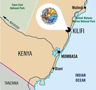 Map of Distant Relatives Kilifi Backpackers